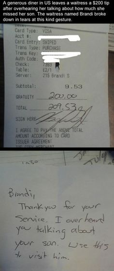 There are good people who pay it forward.