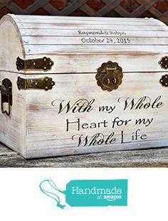 Distressed Wedding Card Box - Keepsake Chest - Card Box for Wedding - Personalized Wedding Card Holder - Rustic Wedding Decor from Country Barn Babe http://www.amazon.com/dp/B0167GGTDM/ref=hnd_sw_r_pi_awdo_roKTwb0JPBWH9 #handmadeatamazon