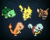 Petit Perler Bead Sprite / ornements - Pokemon