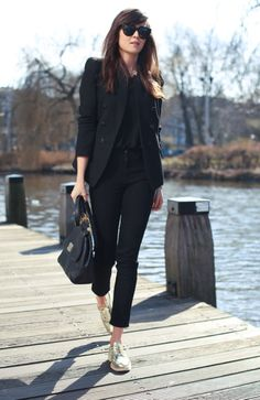 Summer Black Source by insidecloset shoes outfit Summer Work Outfits, Casual Work Outfits, Blazer Outfits, Mode Outfits, Office Outfits, Work Casual, Classy Outfits, Casual Chic, Fashion Outfits