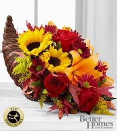 The FTD® Fall Harvest™ Cornucopia by Better Homes and Gardens®- Deluxe