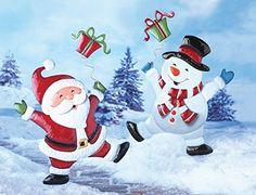 "Christmas Holiday Garden Stakes ""Santa"" - http://www.christmasshack.com/outdoor-christmas-decorations/christmas-holiday-garden-stakes-santa/"