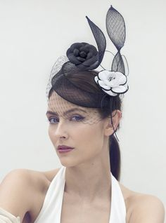 Hat for black lace/white dress