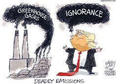 Pat Bagley - Salt Lake Tribune - Gassy Trump - English - Trump, Paris, Paris Accord, Climate, Climate Accord, Paris Climate Accord, global warming, climate change, gas, CO2, pollution, cars, coal, gas, emissions, deadly emissions, toxic