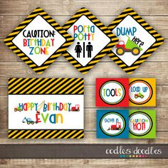 Construction Birthday MEGA PARTY PACKAGE / Boy's Birthday