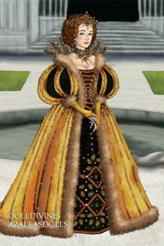 New Queen of the Land for TudorQueen ~ by Inanna ~ created using the LotR Hobbit doll maker | DollDivine.com