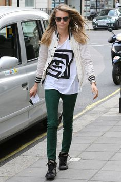 Our Favorite Back-to-School Outfit Ideas from Celebs: Cara Delevingne