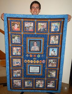 What a great memory quilt! Boy Scout Oath, Girl Scout Leader, Cub Scout Popcorn, Eagle Scout Ceremony, Arrow Of Lights, Girl Scout Patches, Girl Scout Swap, Girl Scout Crafts, Brownie Girl Scouts