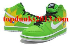 Angry Birds Nike Dunk Green Yellow King Pig High Tops Internet Sales