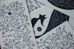 Letter pressed cards