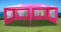 New 20x10 Outdoor Party Wedding Tent Gazebo Events Pavilion  Pink -- You can get additional details at the image link.