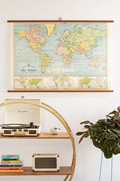 World Map School Chart Wall Hanging ||| for if you can't find me an awesome vintage one. :)