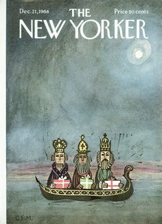The New Yorker - Saturday, December 21, 1968 - Issue # 2288 - Vol. 44 - N° 44 - Cover by : Charles E. Martin