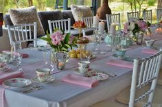pretty table.  love the coloured table runner and napkins