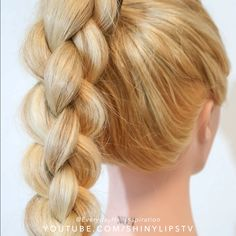 Easy Hairstyles For Long Hair, Braids For Long Hair, Up Hairstyles, Braided Ponytail Hairstyles, Braided Hairstyles Tutorials, Hair Tutorials, Hair Up Styles, Medium Hair Styles, Hair Inspo