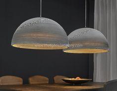Houten Hanglamp Halfronde Kap - 2xØ70 cm
