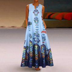 Summer Dresses Online, Long Summer Dresses, Summer Outfits Women, Dress Summer, Dress Long, Floryday Vestidos, Robe Swing, Swing Dress, Vestido Casual