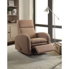 Easy Living Warsaw Swivel Glider Recliner  sc 1 st  Pinterest & Madison Park Archdale Bent Arm Recliner Tan Multi See below ... islam-shia.org