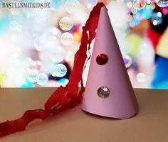 Eine Krone oder einen Party-Hut schnell mit Kindern basteln