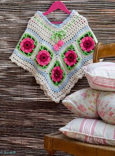 Crochet Poncho Patterns, Crochet Cardigan, Crochet Scarves, Crochet Shawl, Crochet Doilies, Crochet Granny, Free Crochet, Knit Crochet, Beautiful Crochet