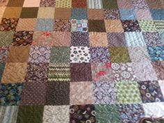 Green and brown king size quilt by 4quiltsandmore on Etsy, $249.00