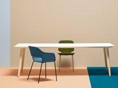 BABILA Rechteckiger Tisch by PEDRALI Design Pedrali R, Pedrali furniture is available at Morlen Sinoway Chicago - 312.432.0100