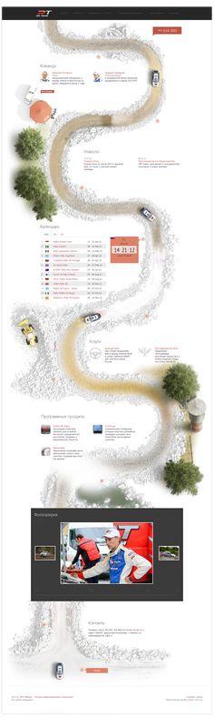 Rally team «Rit team» by Maxim Mezentsev, via Behance