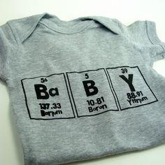 Chemistry Baby Boy Onesie