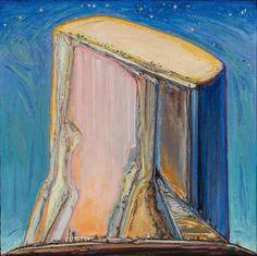Wayne Thiebaud (American, b. 1920), Night Mesa, 2011-13. Oil on board, 24 × 24 in.