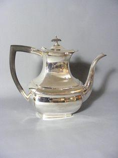 Vintage Silver Plate Coffee Hot Water Pot Vintage Coffee Pot | Etsy Handmade Jewelry Box, Painted Boxes, Milk Jug, Vintage Coffee, Cooking Utensils, Wooden Handles, Cross Pendant, Tea Set, Vintage Silver