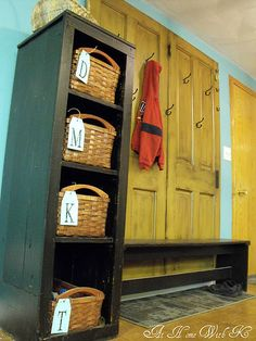 47 creative entryway and mudroom ideas - New Antique White 3 Basket Storage Unit Bench Seat