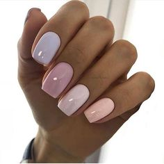 There must be your favorite nail ideas in 140 classic nail designs. - Page 49 of 139 - Inspiration Diary Best Acrylic Nails, Summer Acrylic Nails, Pastel Nails, Acrylic Nail Designs, White Summer Nails, Colorful Nails, Nagellack Design, Nagellack Trends, Classic Nails