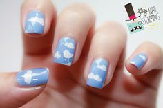 ☁ Nailstorming In The Air by diamant sur l'ongle