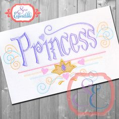 PRINCESS Design For Machine Embroidery INSTANT DOWNLOAD by SewEmbroidable on Etsy
