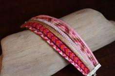 Manchette HUYANA, brésiliens et tissage de Miyuki · Bracelets · Boutique L'Amérindienne · Création et vente de bijoux fantaisie faits main