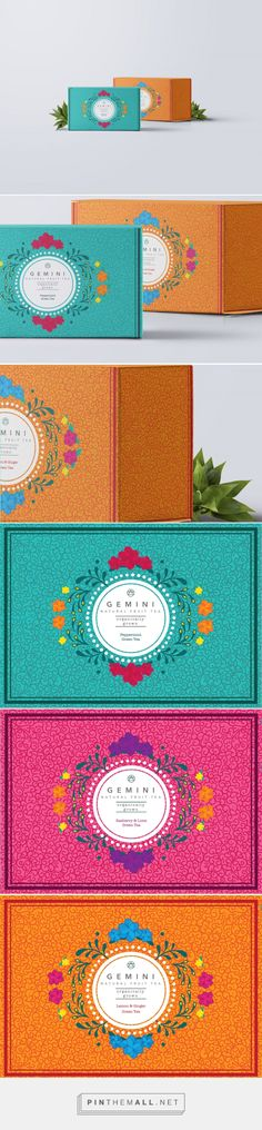 Gemini Organic Teas by Rachel Griffith. Source: Bechance. Pin curated by#SFields99 #packaging #design #inspiration #ideas #product #branding #tea