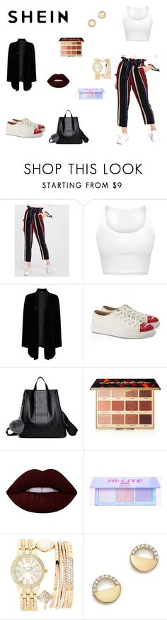 """""""Shein"""" by kjfigueroa ❤ liked on Polyvore featuring Eileen Fisher, Charlotte Olympia, tarte, Lime Crime, Jessica Carlyle and Bloomingdale's"""