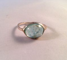 Lovely Aquamarine set in Sterling Silver
