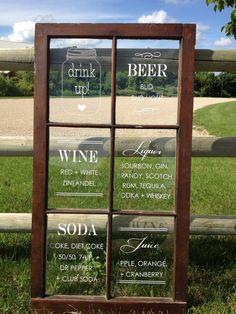 GENIUS!!!! Decal print work for windows! Menu Window Sign Custom Decals by IDoSignDesigns on Etsy, $60.00