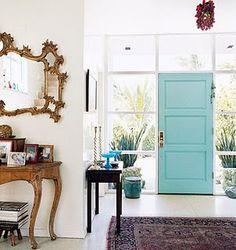 Love that door! Hmmmmm, paint the inside of my front door?