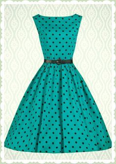 c8711d5e1d7 Lindy Bop 50er Jahre Rockabilly Petticoat Punkte Kleid - Audrey - Türkis.  Tamar Chkadua · Dresses
