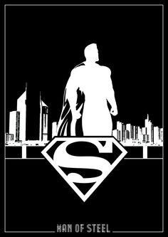 DC Superhero Silhouettes-Superman by Romain Therasse