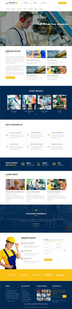 Factory Plus is clean and modern design 9in1 responsive #Joomla template for Industry, factory, #engineering and construction business website to live preview & download click on Visit 👆 #webdesigns