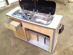 über Kitchen pod design - Page 4 - VW T4 Forum - VW T5 Forum | Note the handle drawer on the edge....