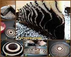Zebra cake-but use pink food coloring for the white cake to make a super cute girl birthday cake