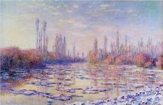 Floating Ice on the Seine - Claude Monet
