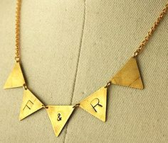 Personalized Bunting Necklace