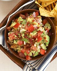 Spicy and Smoky Guacamole--a perfect Superbowl appetizer! Pair with Chatom Vineyards Sauvignon Blanc Spicy Recipes, Wine Recipes, Mexican Food Recipes, Great Recipes, Salad Recipes, Favorite Recipes, Easy Weekday Meals, Party Dishes, Guacamole Recipe
