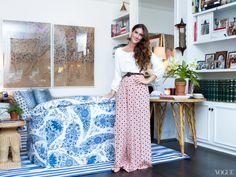 Stunning Rebecca de Ravenel photographed in her New York apt.