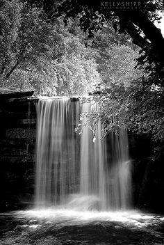 Waterfall, Petit Jean State Park, Arkansas This is one of my favorite, b&w images of this particular waterfall at Petit Jean. This is the run-off waterfall from Lake Bailey. Great Places, Places To See, Beautiful Places, National Park Tours, National Parks, State Parks, Chutes Victoria, Petit Jean State Park, Beautiful Waterfalls